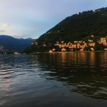 Lake Como at sunset